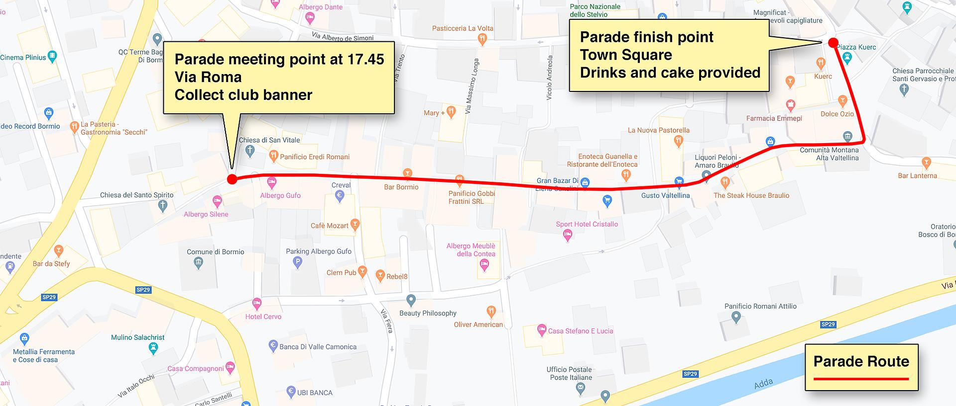 Bormeo Parade Route